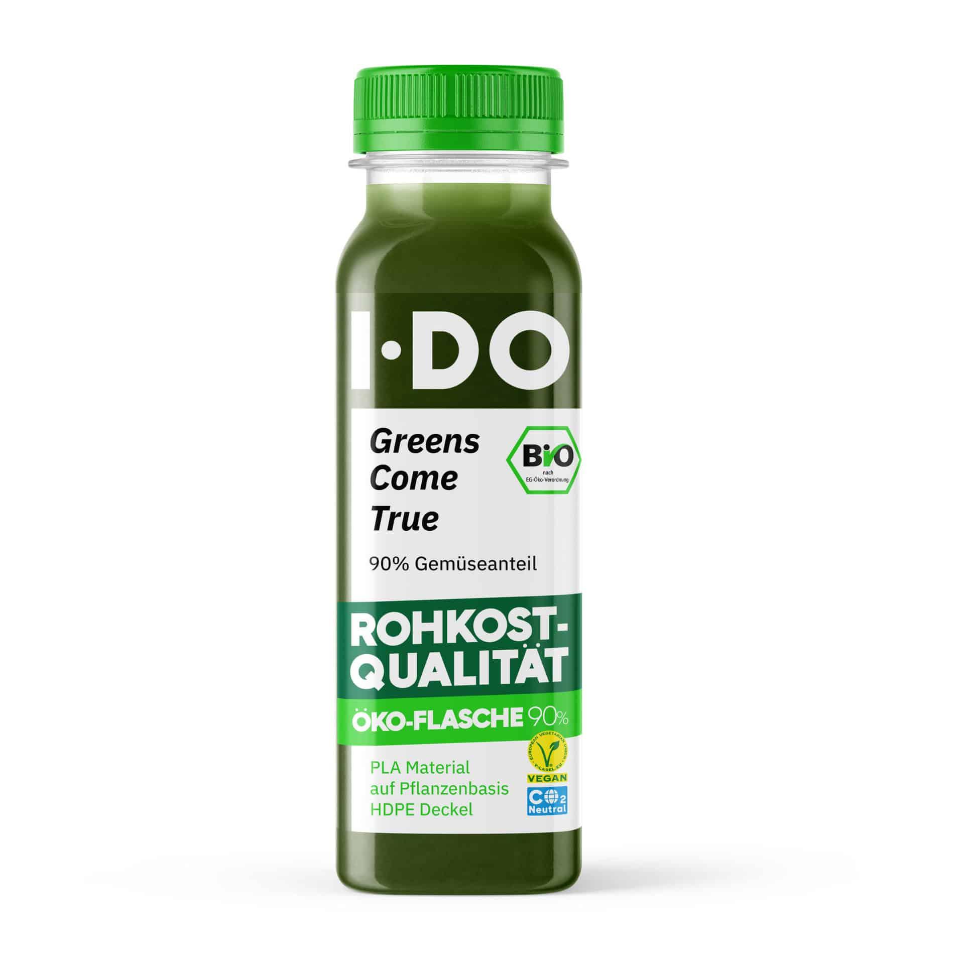 I·DO Bio Saft Greens Come True, Gemüsesaft von vorne