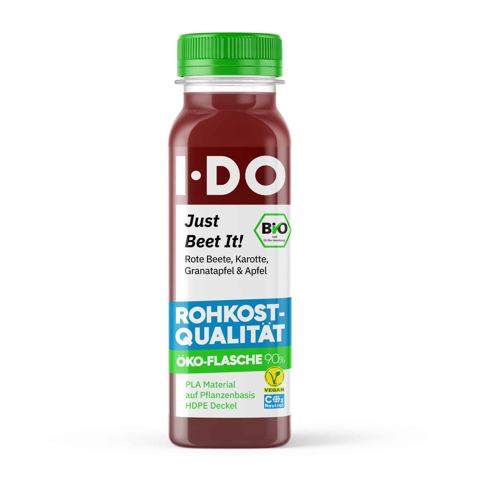 I·DO Bio Saft Just Beet It!, Rote Beete Saft von vorne