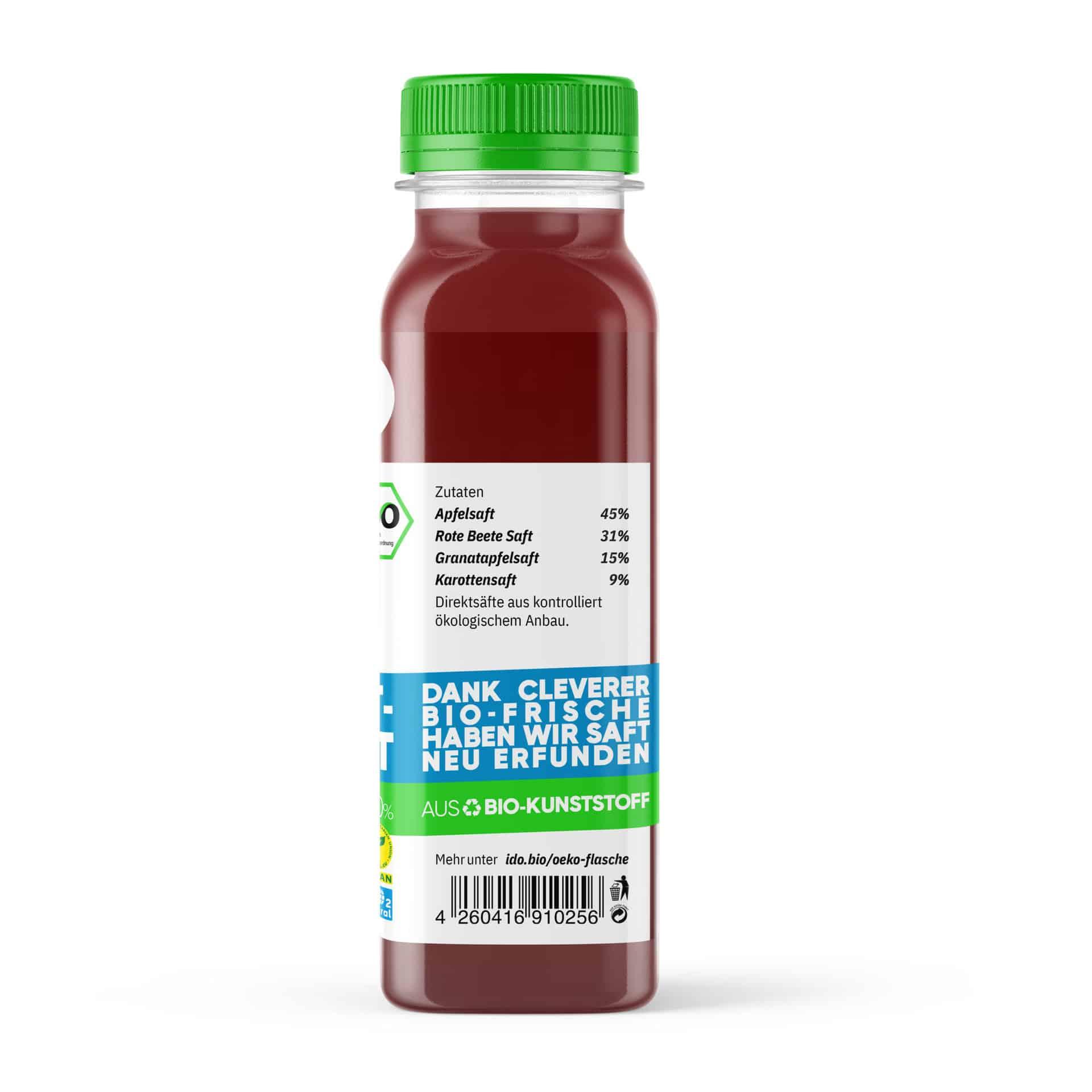 I·DO Bio Saft Just Beet It!, Rote Beete Saft von der Seite