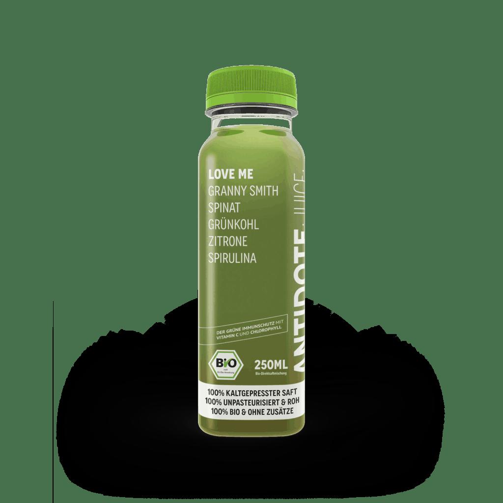 Antidote Juice Bio Love Me, ein süßer Grüner Saft.