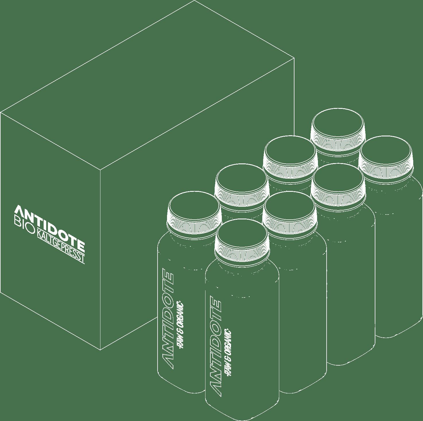 Antidote Bio Saftkur 8er Box weiss