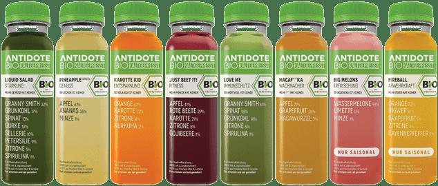 Antidote Bio Kaltgepresst Lineup Full