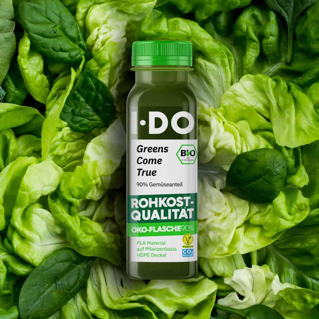 I·DO Greens Come True, Gemüsesaft in der Öko-Flasche 90%