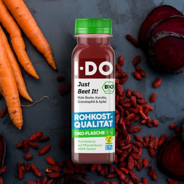 I·DO Just Beet It!, Rote Beete Saft in der Öko-Flasche 90%