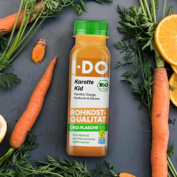 I·DO Karotte Kid, Karottensaft in der Öko-Flasche 90%