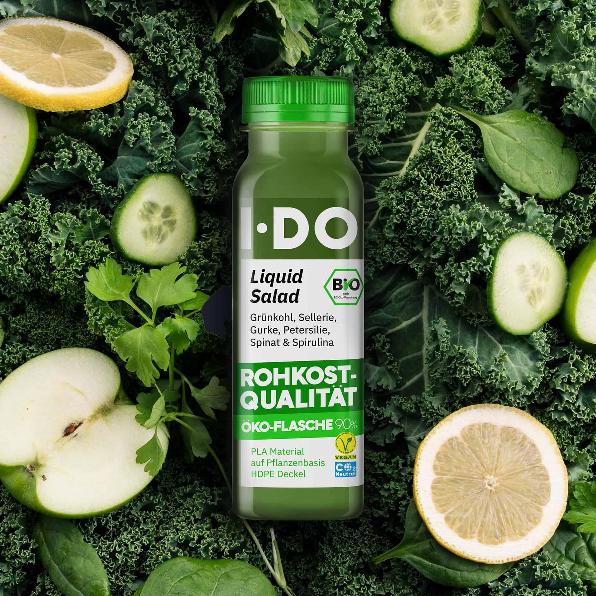I·DO Liquid Salad, Green Juice in der Öko-Flasche 90%