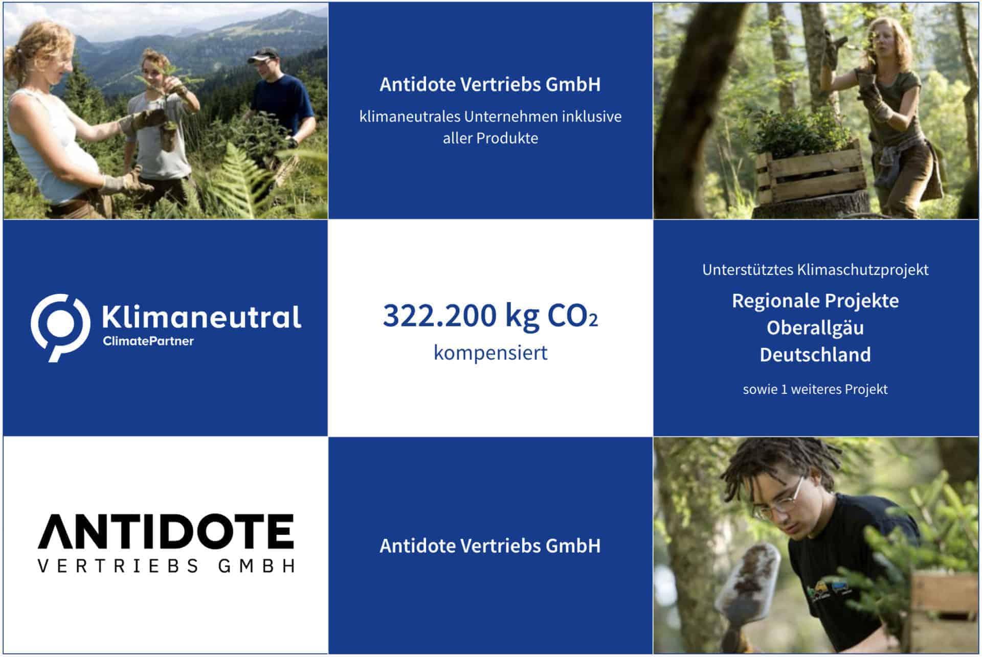 IDO ist ein klimaneutrales Unternehmen und wird von Climate Partner zertifiziert