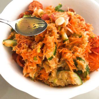Rote Linsen Salat Dressing mit Saft