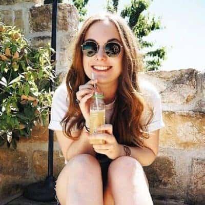 Girl drinking Antidote Juice