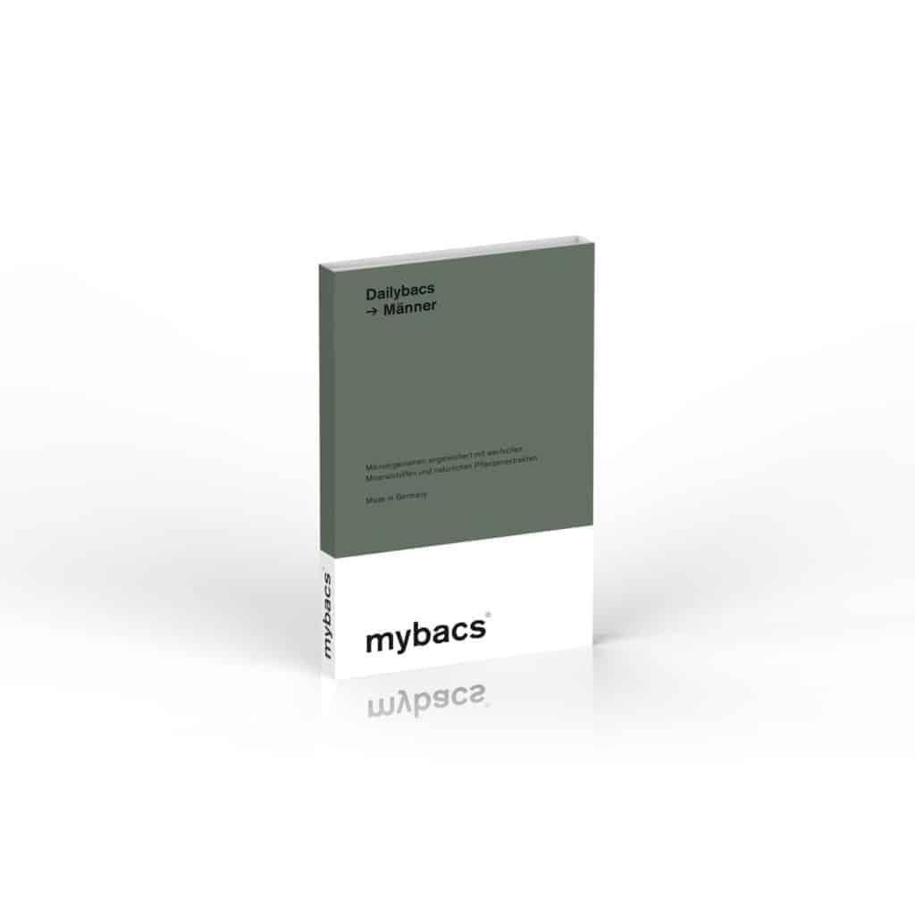 mybacs dailybacs male Mikroorganismen angereichert mit wertvollen Mineralstoffen und Pflanzenextrakten