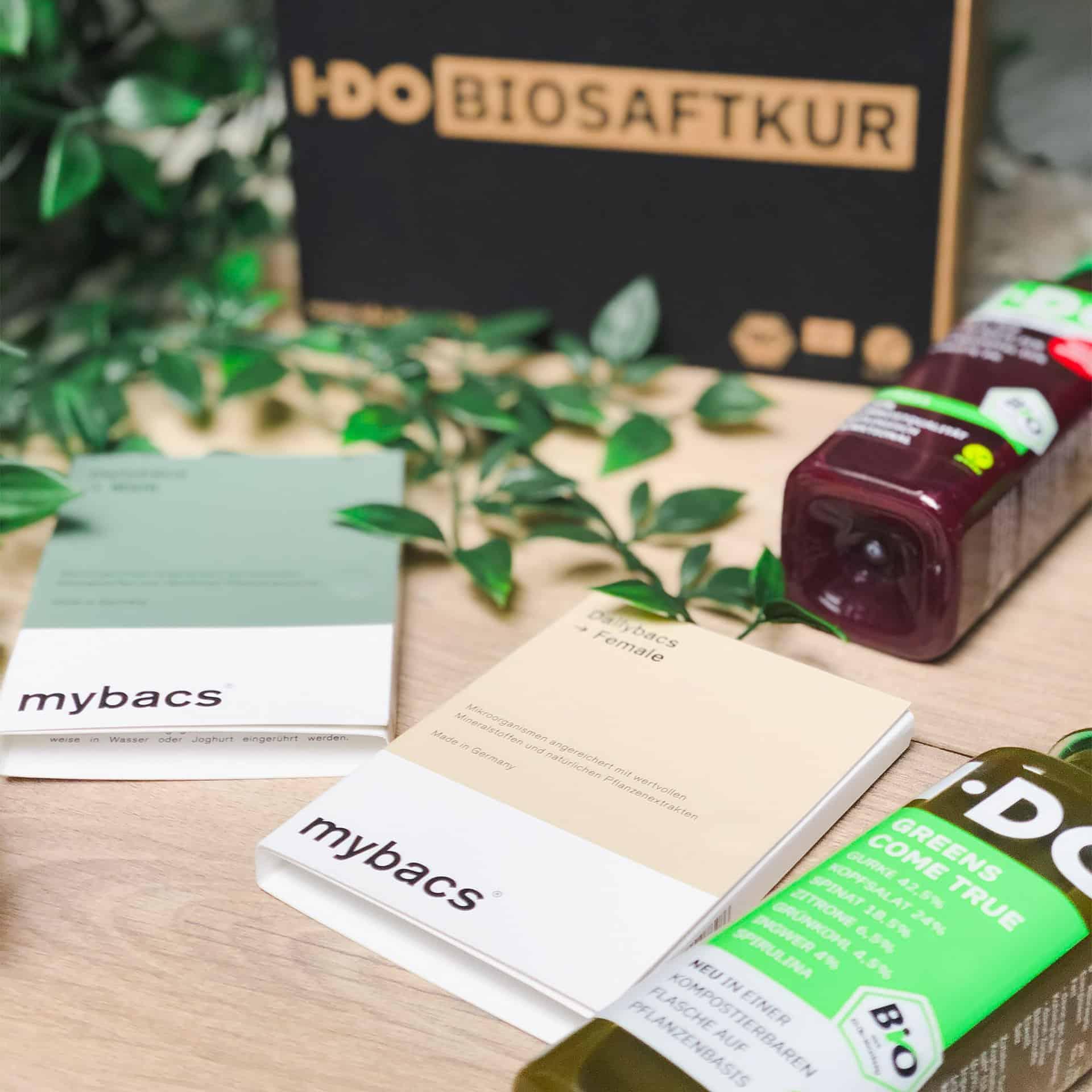 I·DO Bio Saftkur mit mybacs