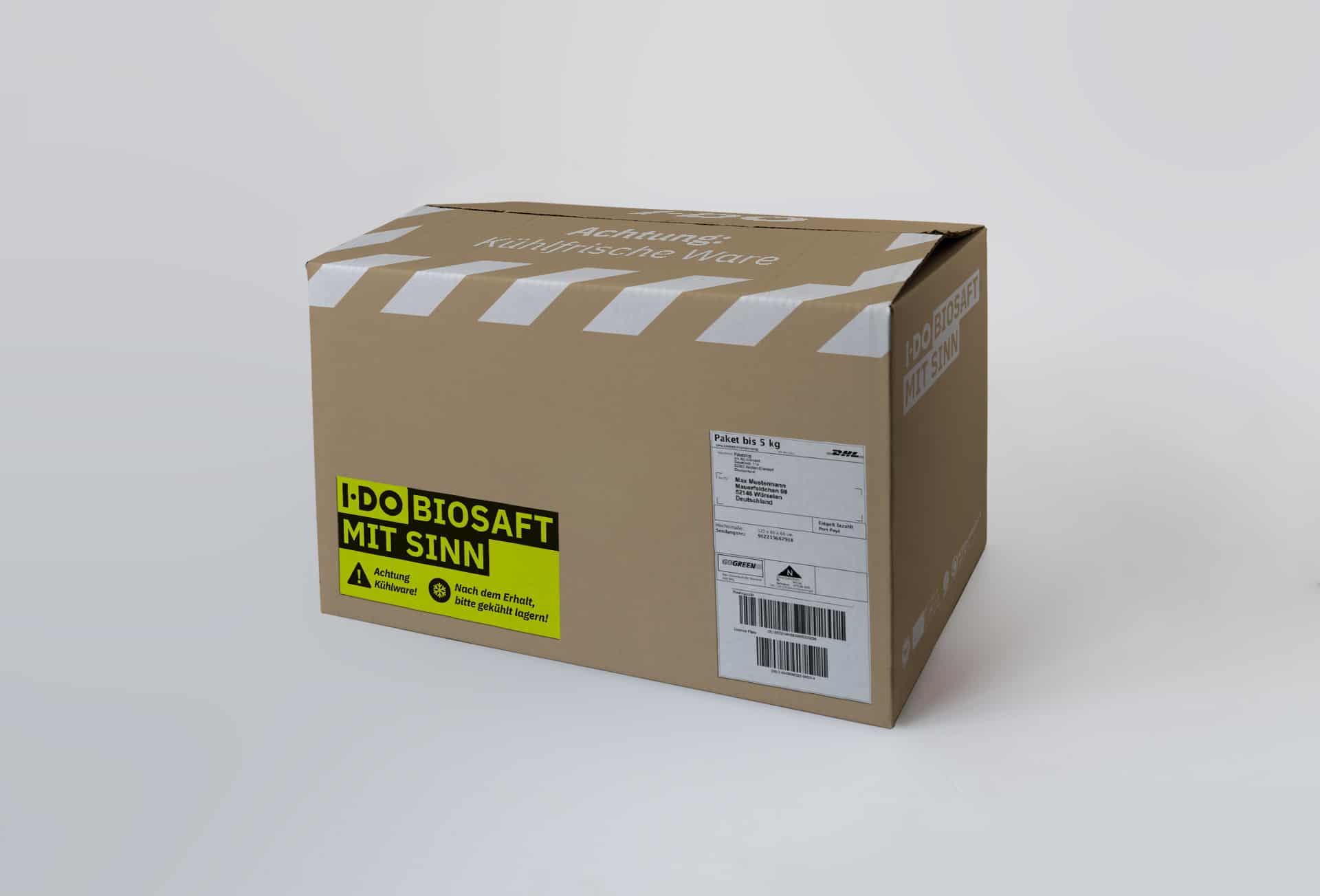 IDO Versandbox Kühlpaket Mockup
