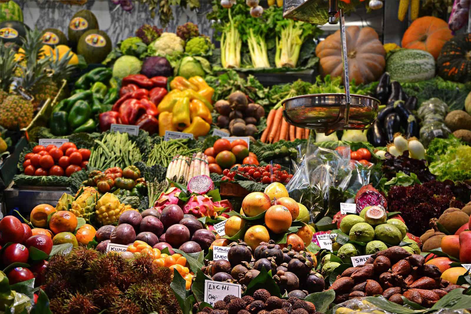 Gemüsestand, Obststand