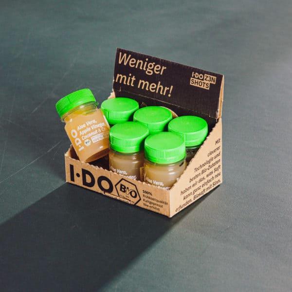 I·DO Ingwer Shots 6er Pack mit Aloe Vera Saft, Apfelessig, Kokosnusswasser & Co.