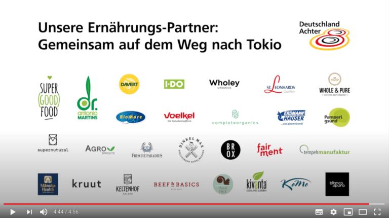"""food-is-fuel deutschlandachter partner """"road to tokio"""""""