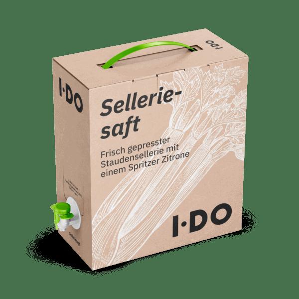 3L Bio Selleriesaft in einer Bag-in-Box zum kaufen. Immer in kühlfrischer Rohkostqualität.