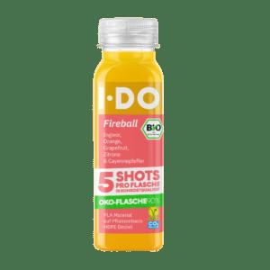 Fireball · 5 frische Bio Ingwer Shots pro Flasche