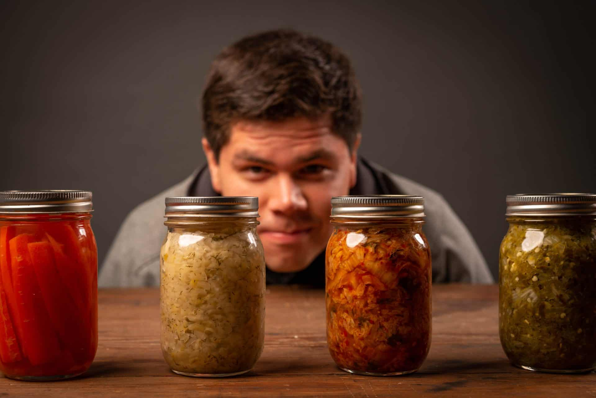 Fermentierte Lebensmittel im Glas