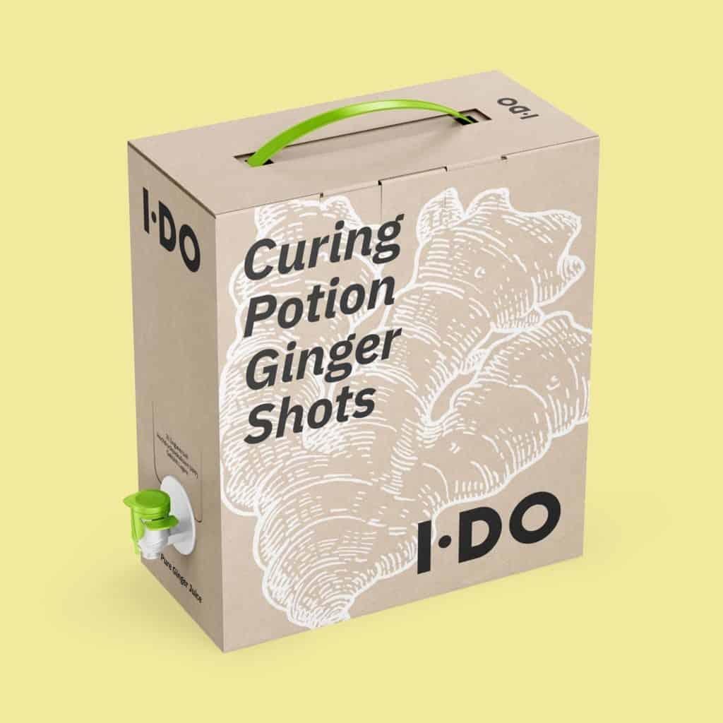 3l frische Curing Potion Ingwer Shots Bag-in-Box von I·DO