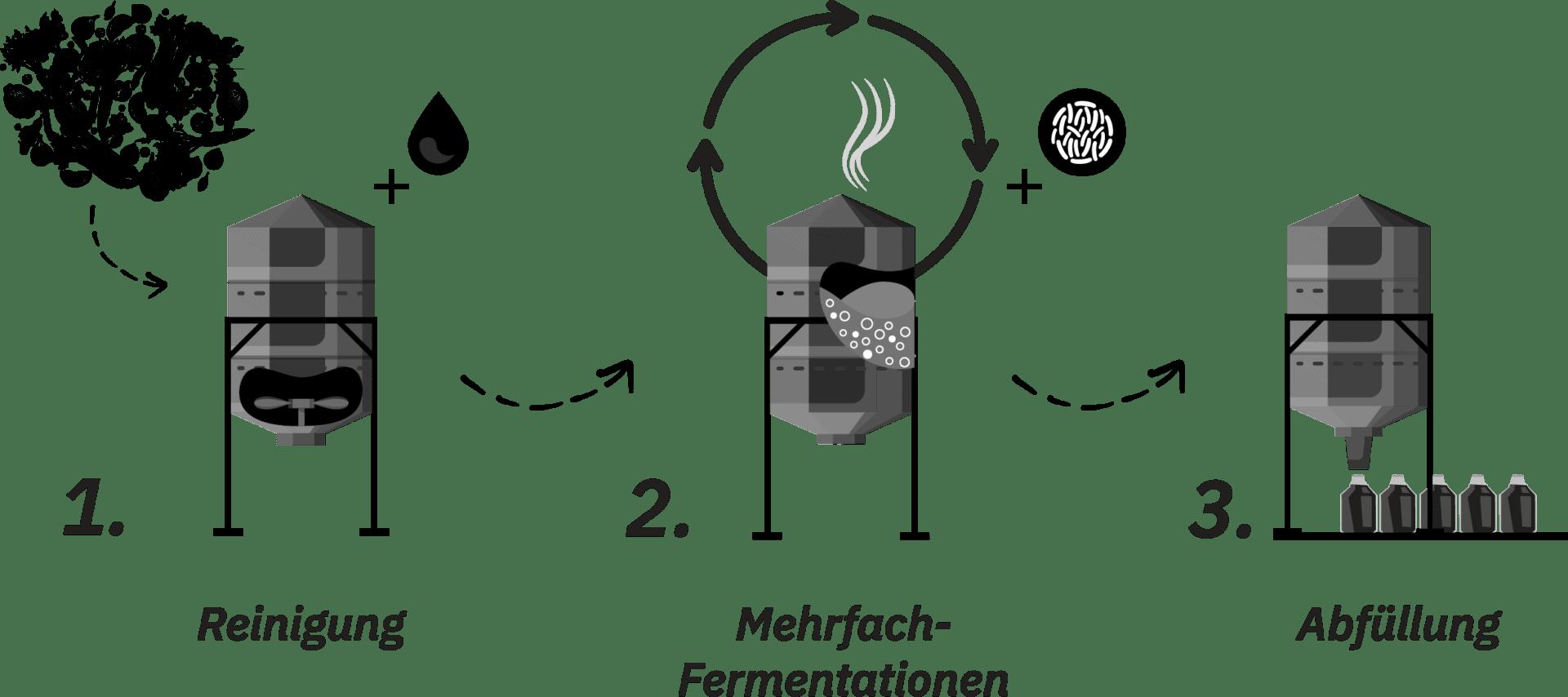 Mehrfach Fermentation IDO Essenz Prozess