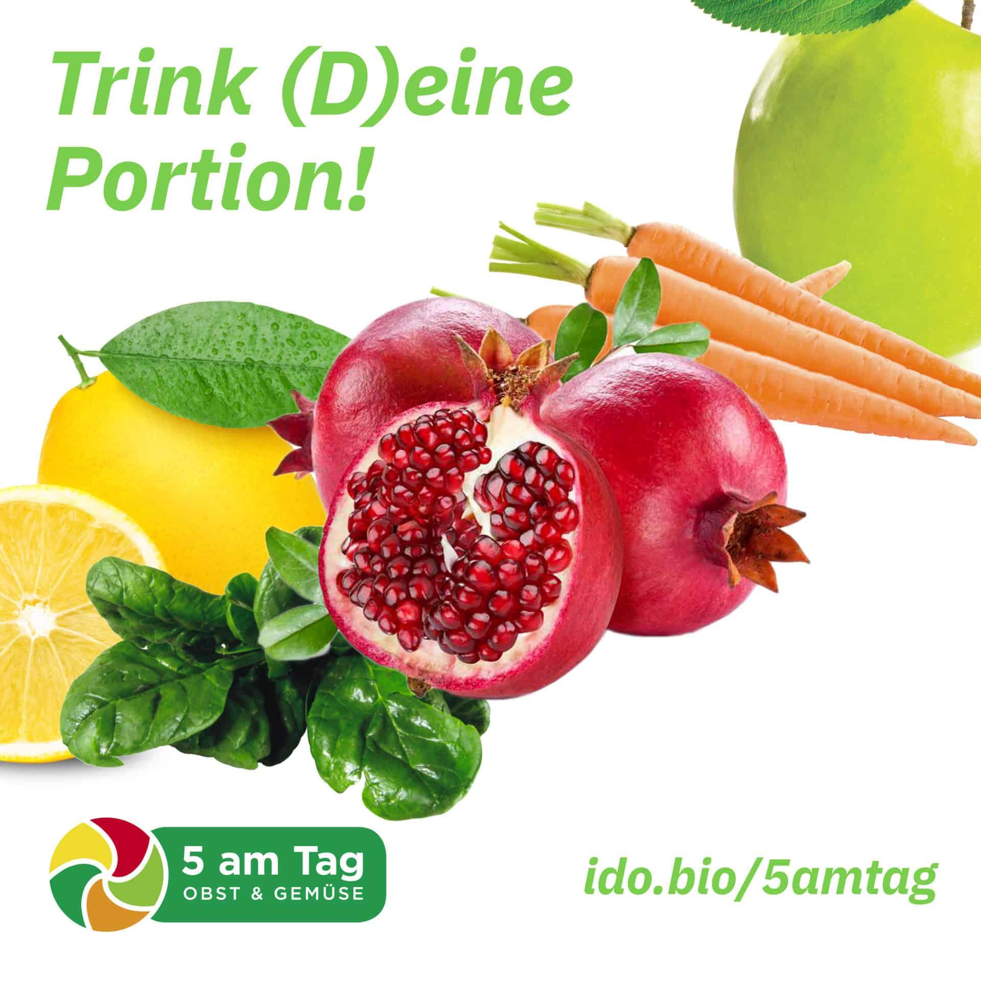 5 am Tag Tile White mit Früchten